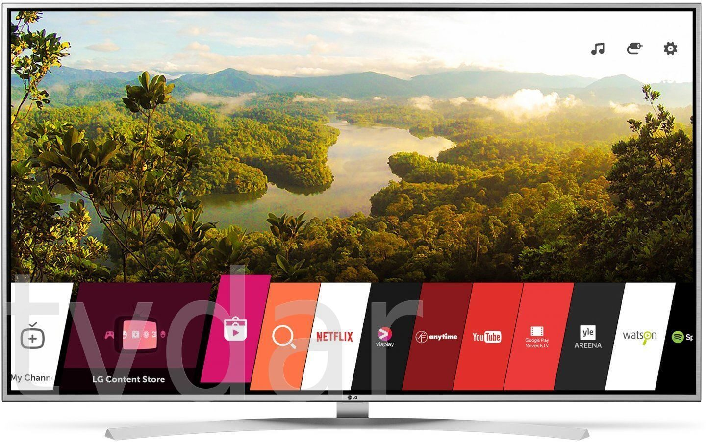 """product mix of lg tv Android tv now comes with your google assistant built in just say """"ok google,"""" or press the mic button on your remote to quickly find the latest blockbuster, check the score of the big game, or dim the lights — all without leaving what you're watching."""